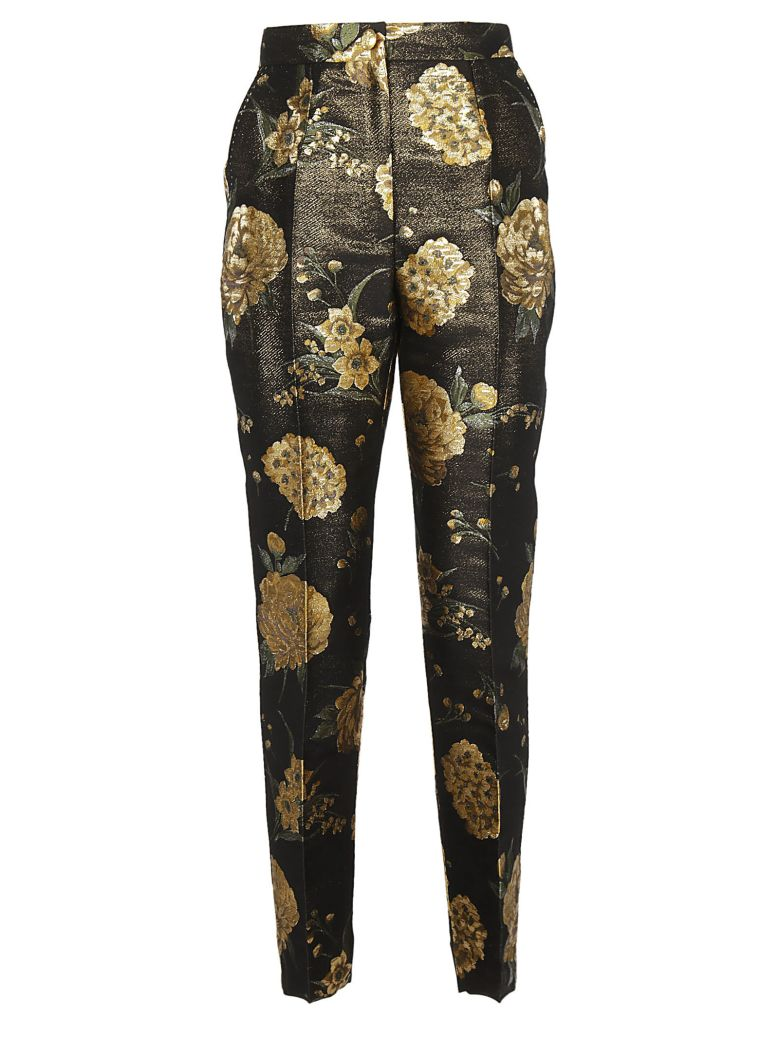 DOLCE & GABBANA FLORAL PRINTED TROUSERS