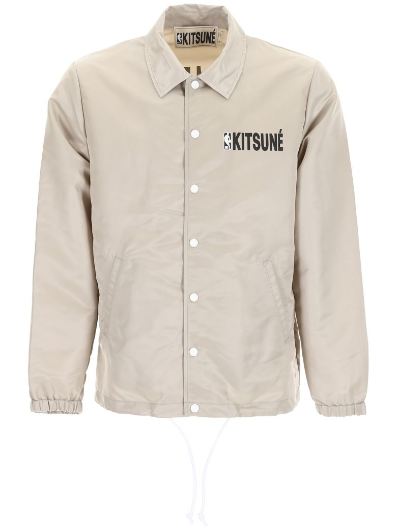 KITSUNÉ Logo Print Jacket in Grey