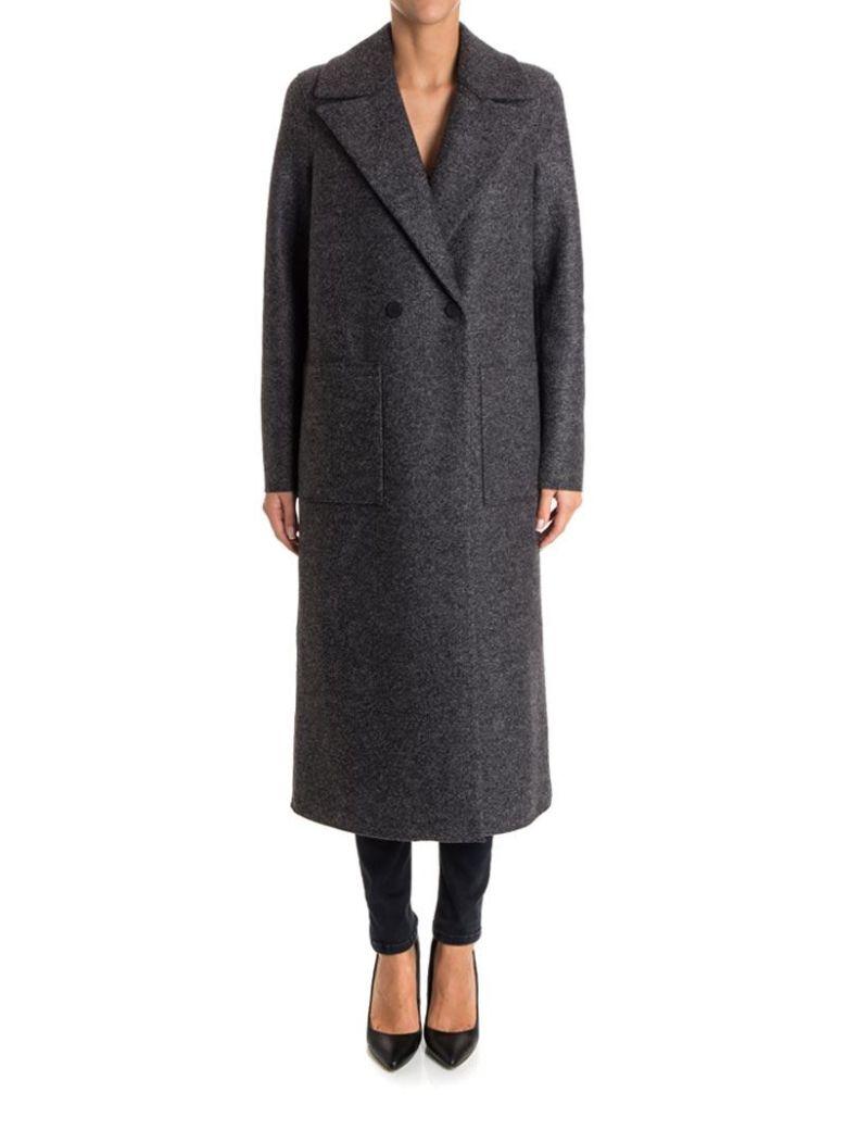 harris wharf london wool coat grey modesens. Black Bedroom Furniture Sets. Home Design Ideas