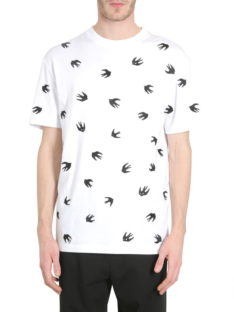 85d33c95 Mcq By Alexander Mcqueen Mcq Alexander Mcqueen All Over Swallow Print T In  White