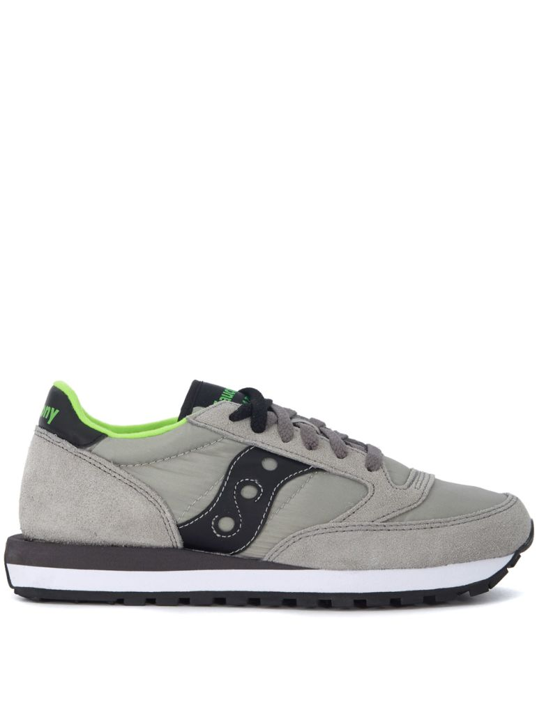 JAZZ GREY AND BLACK SUEDE AND NYLON SNEAKERS