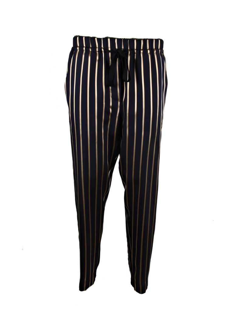 Forte Forte  FORTE FORTE STRIPED DRAWSTRING TROUSERS