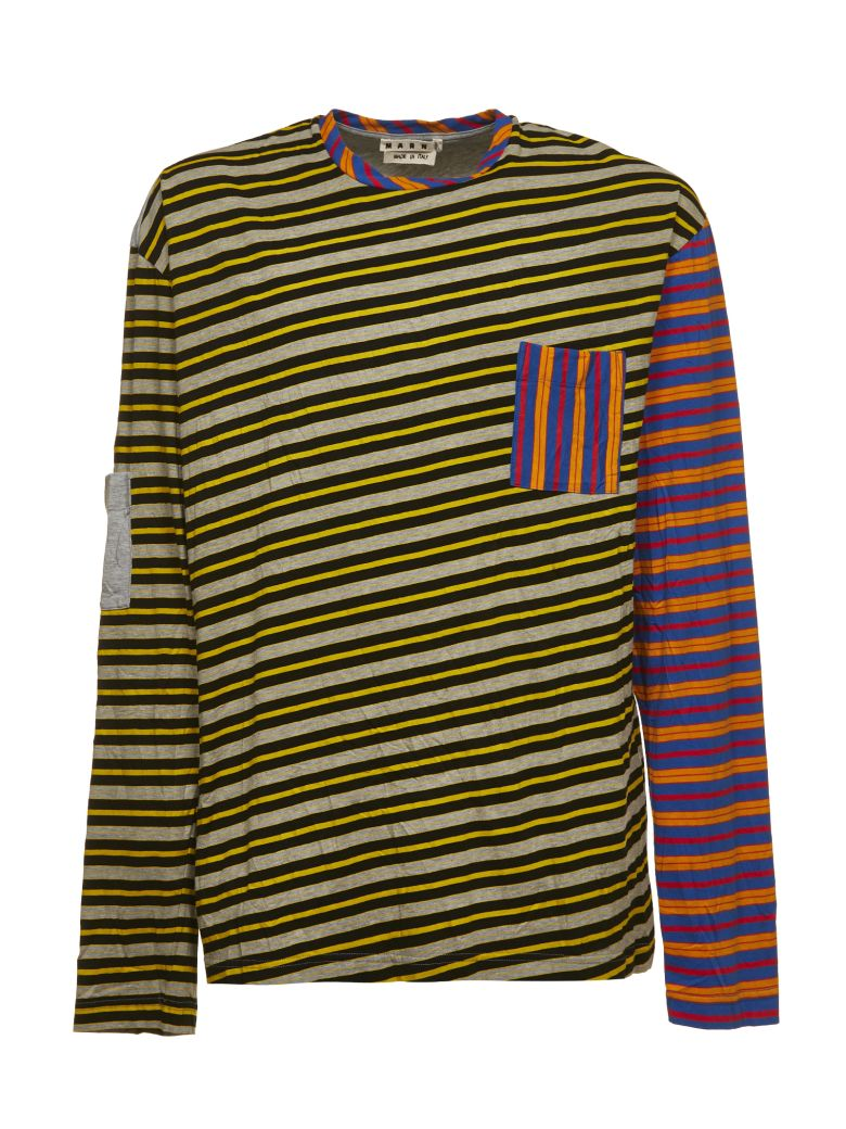 MARNI Stripe Top, Grigio Multicolor