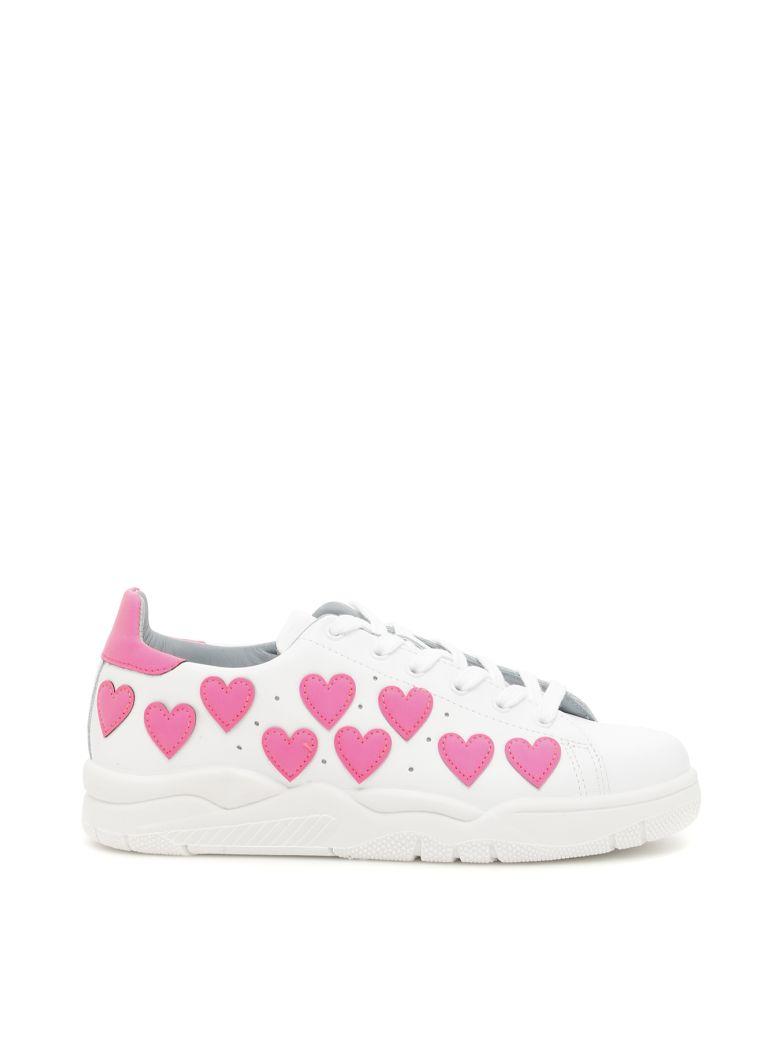 Chiara Ferragni Leather Roger Sneakers With Fluo Stars Sale Pre Order zRRZc