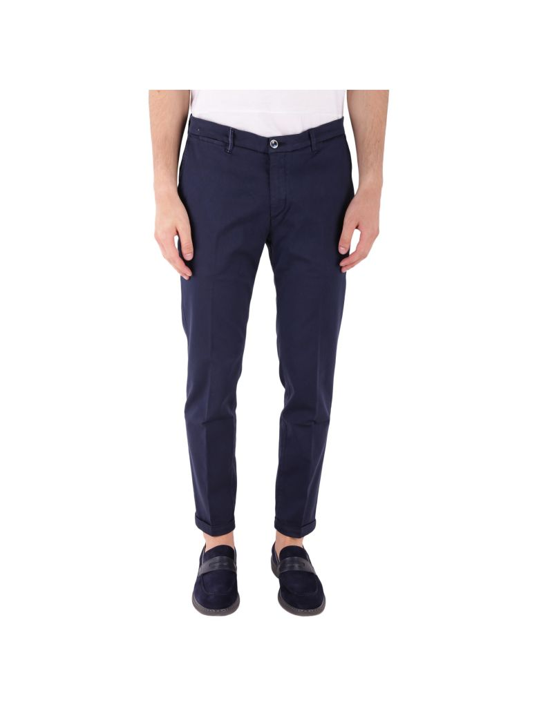 RE-HASH COTTON AND LYOCELL STRETCH TROUSERS