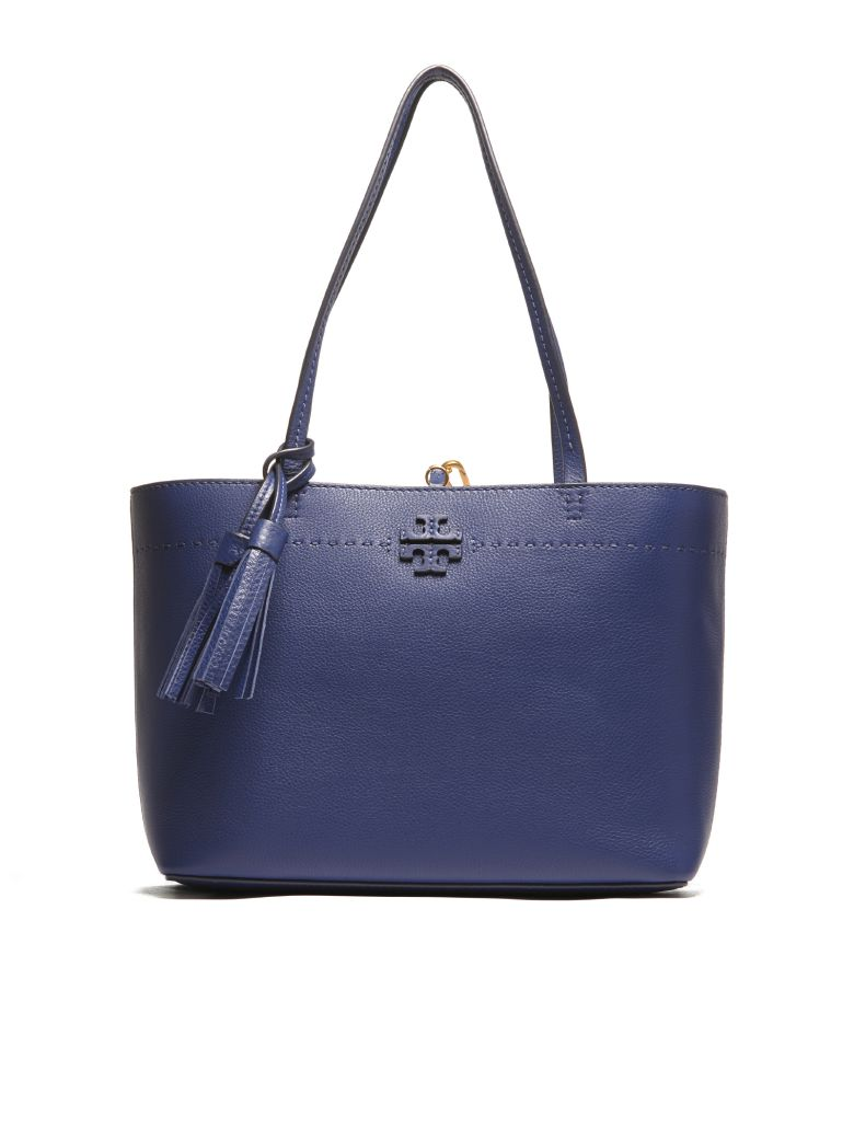 Mcgraw Leather Laptop Tote - Blue, Bluette
