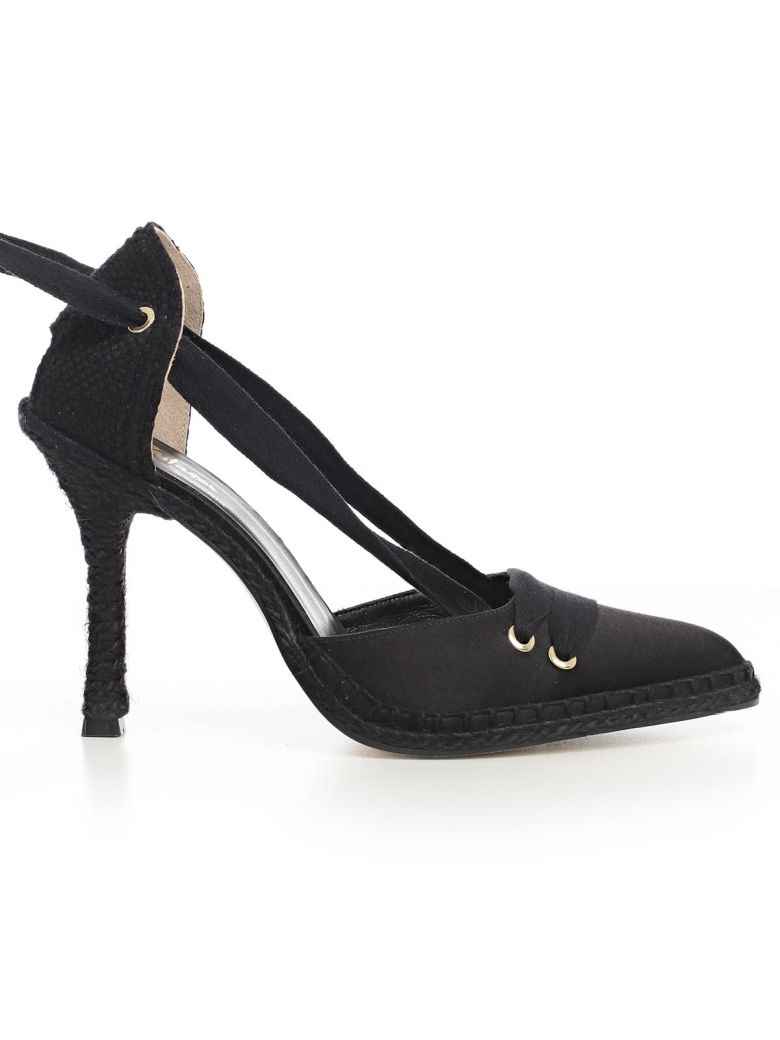 CASTAÑER BY MANOLO BLAHNIK Castañer By Manolo Blahnik High-Heeled Shoe in Onyx