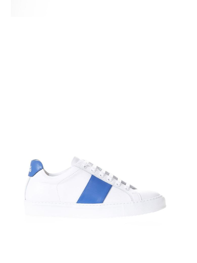 NATIONAL STANDARD WHITE & BLU LEATHER SNEAKERS