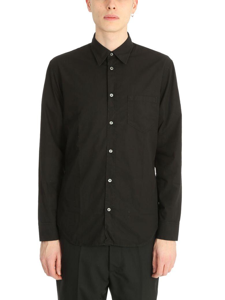 Camp-collar Printed Cotton-voile Shirt - Royal blueMaison Martin Margiela Excellente Vente En Ligne 2018 10uiUJ