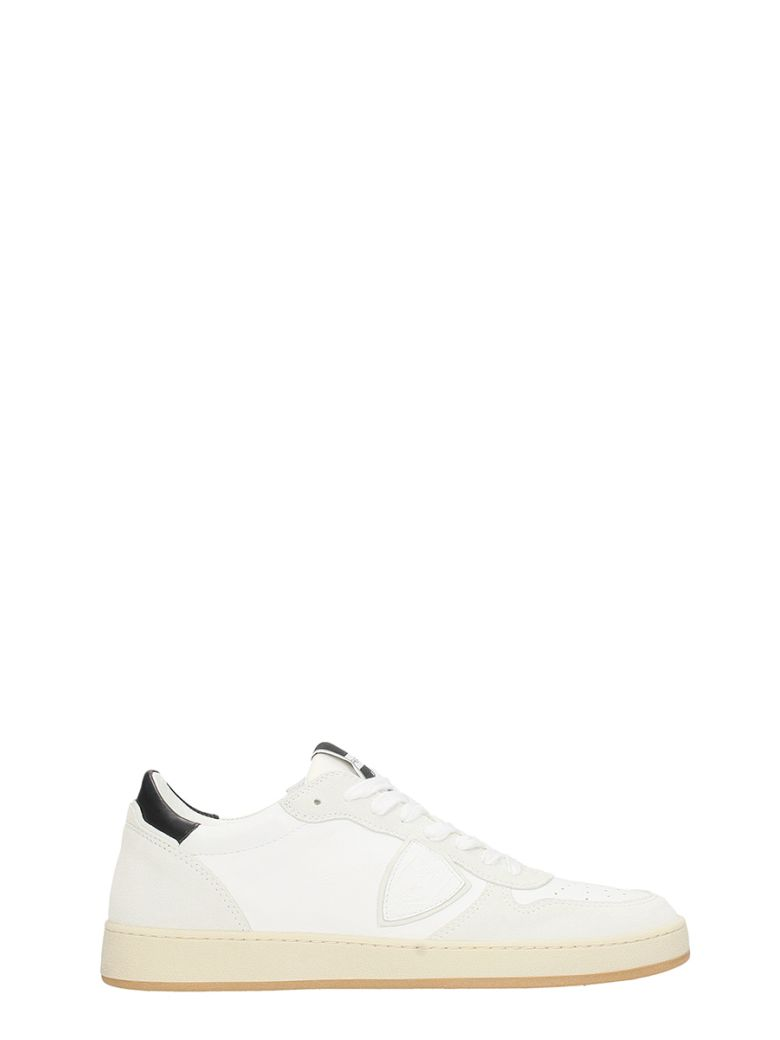 PHILIPPE MODEL Lakers White Suede And Leather Sneakers