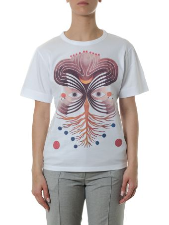 Chloé White Cotton T-shirt With Multicolor Print