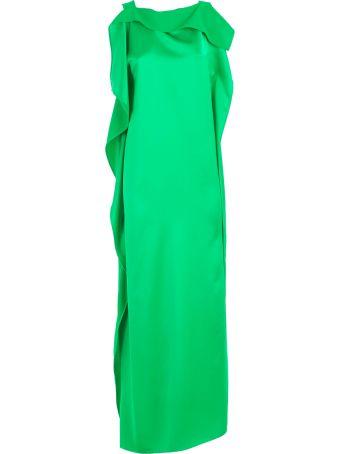 Parosh Dress W/s W/volant Neck