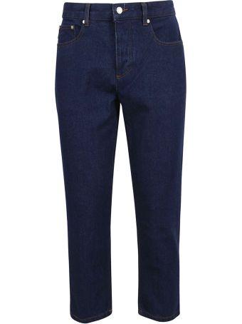 Ami Alexandre Mattiussi Cropped Jeans