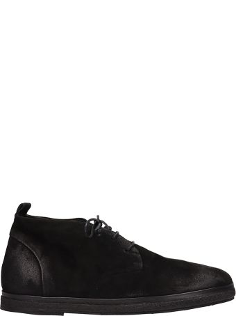 Marsell Black Suede Lace Up Shoes