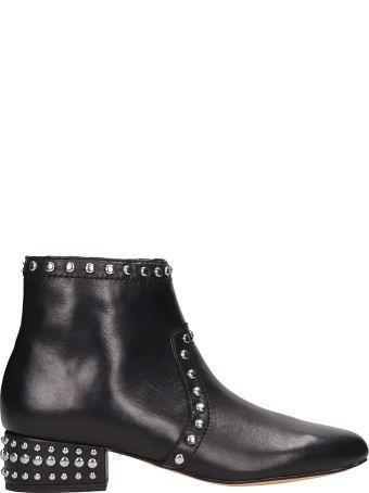 Sam Edelman Black Leather Ankle Boots