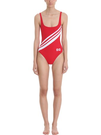Dsquared2 Red Stripes Swimsuit