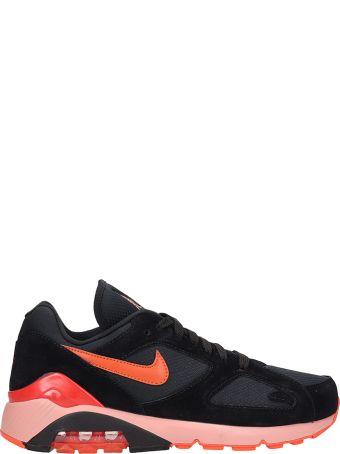 Nike Air Max 180 Black Suede Sneakers