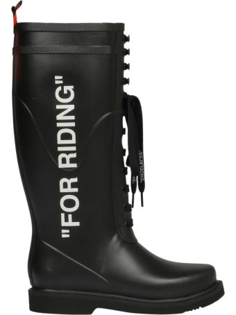 Off-White Quote Laced-up Boots