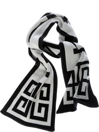 Givenchy Logo Embroidered Scarf