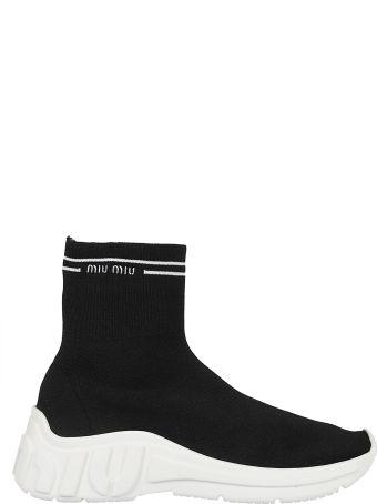Miu Miu Knit High Top Sneakers