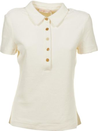 Tory Burch Long Placket Polo Shirt