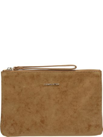 Lancaster Paris Gold Velvet Clutch