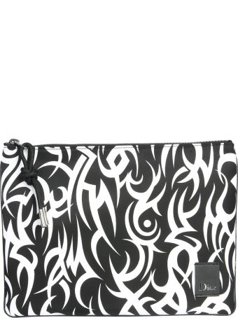 Dior Homme Pouch With Tribal Printing