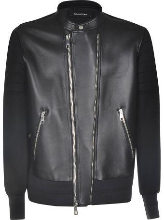 Neil Barrett Zipped Leather Jacket