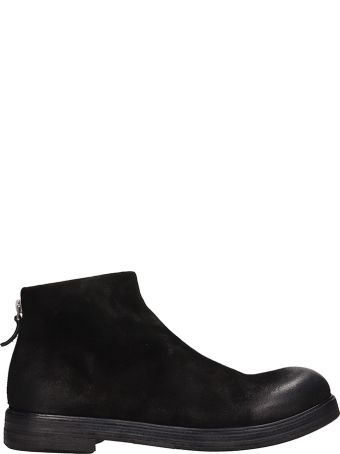 Marsell Zucca Black Suede Boots