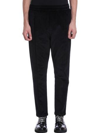 Low Brand Black Velour Pants