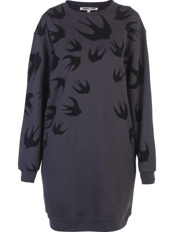 McQ Alexander McQueen Black Printed Dress