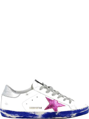 Golden Goose White/fuxia Leather Sneakers