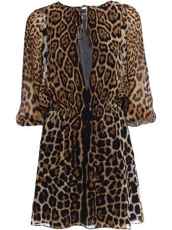 Saint Laurent Leopard Ysl Dress