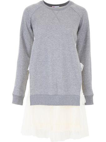 Sweatshirt Dress With Tulle