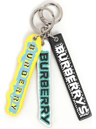 Burberry Tag Print Key Chain