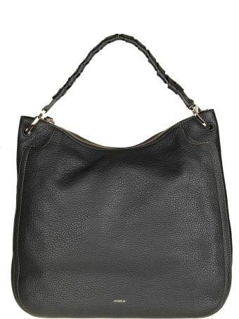 "Furla ""rialto Xl"" Bag In Black Color Leather"