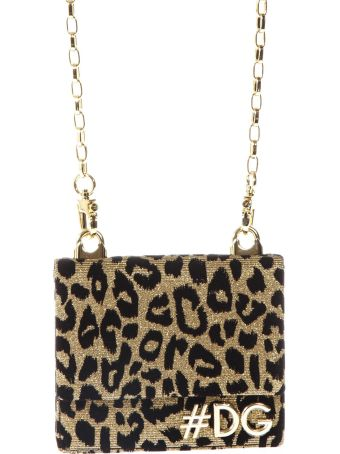 Dolce & Gabbana Animal Bag In Fabric With Logo