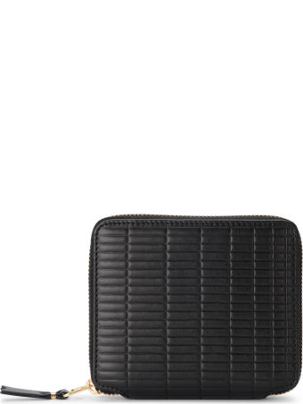 Comme des Garçons Wallet Brick Line Black Leather Wallet