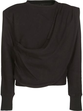 Ben Taverniti Unravel Project Draped Detail Sweatshirt