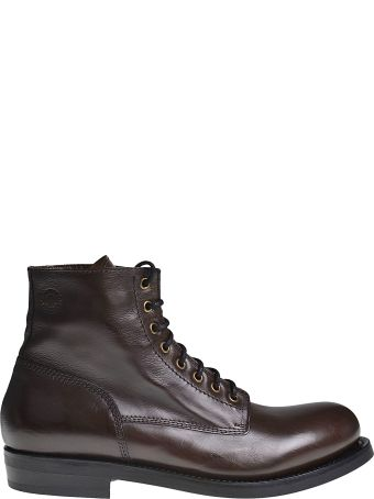 Buttero Classic Leather Lace-up Boots