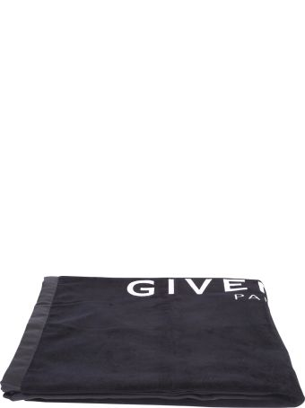 Givenchy Black Branded Beach Towel