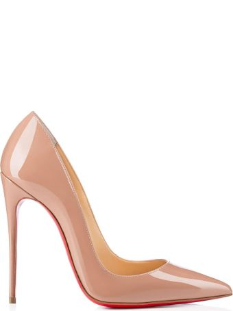Christian Louboutin So Kate Nude Patent Stilettos