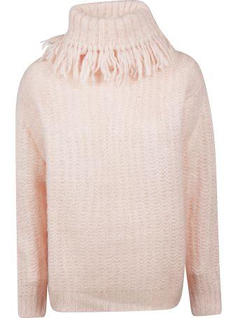 Miu Miu Fringed Turtle Neck Sweater