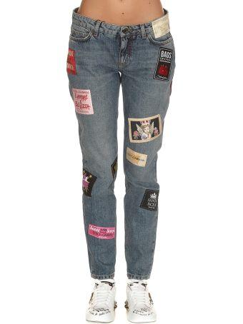 Dolce & Gabbana Multi Logo Details Jeans