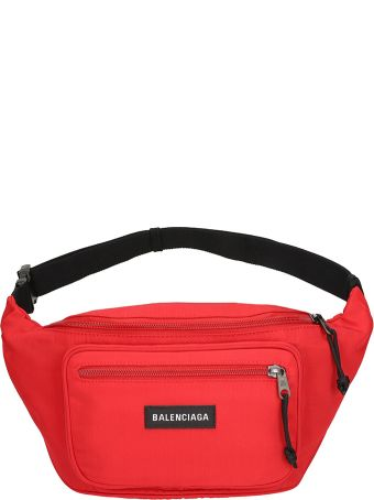 Balenciaga Red Fabric Belt-bag