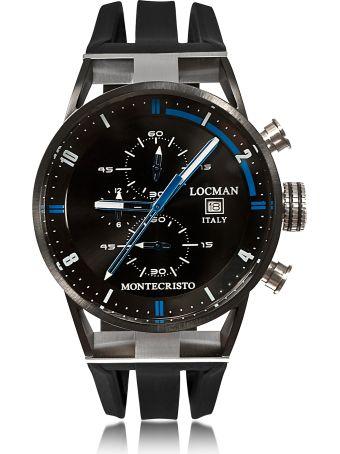 Locman Montecristo Stainless Steel & Titanium Men's Chronograph Watch