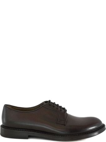 Doucal's Brown Leather Derby Shoes.