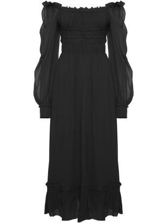 Proenza Schouler Gathered Off-the-shoulder Silk-chiffon Midi Dress