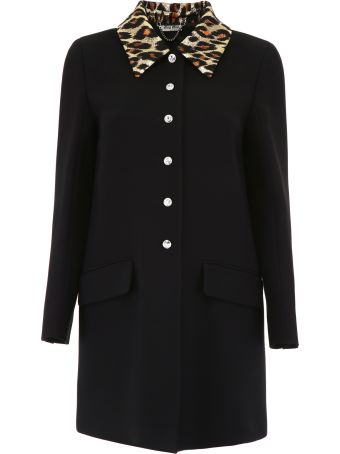 Miu Miu Coat With Jacquard Collar