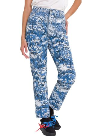 Off-White Jeans Cropped In Denim A Fantasia